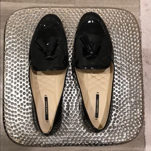Zara Black Glossy Loafers